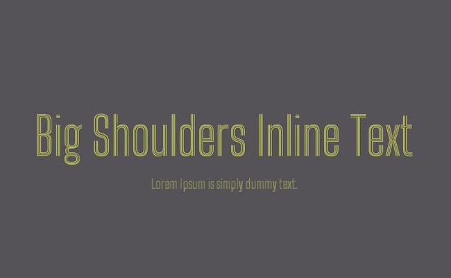 Big Shoulders Inline Text Font Family Free Download