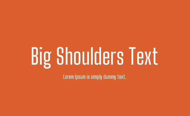 Big Shoulders Stencil Text Font Family Free Download