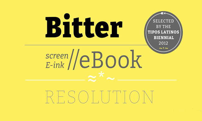 Bitter Font Family Free Download