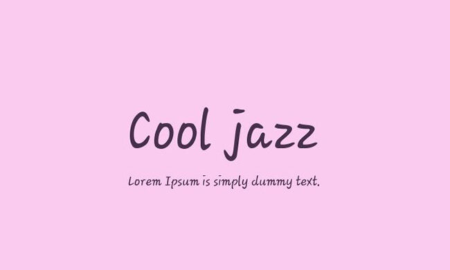 Cool Jazz Font Family Free Download