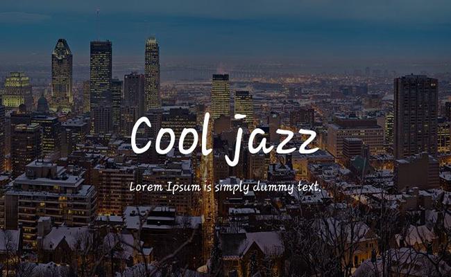 Cool Jazz Font Free Download
