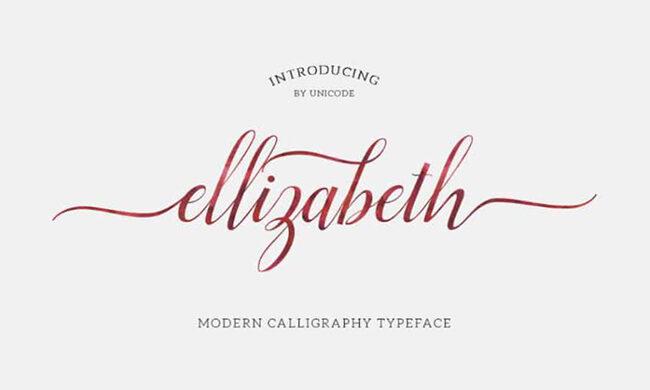 Elizabeth Font Family Free Download