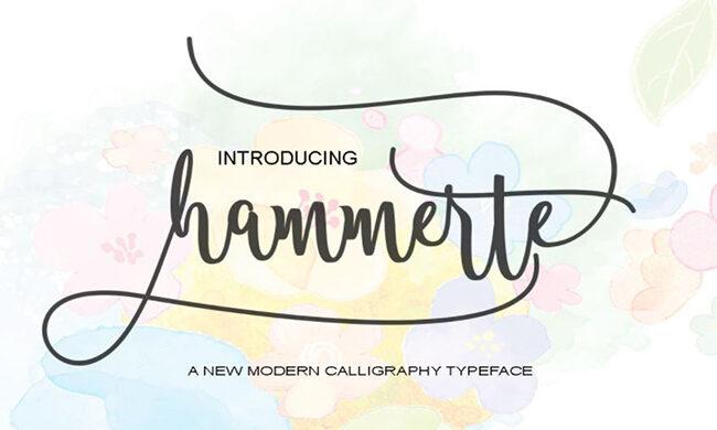 Hammerte Script Font Family Free Download