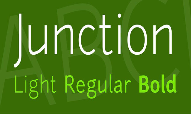 Junction Font Family Free Download