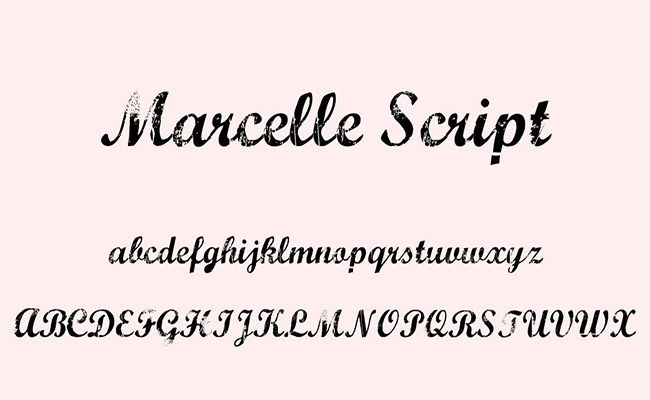 Marcelle Script Font Family Free Download