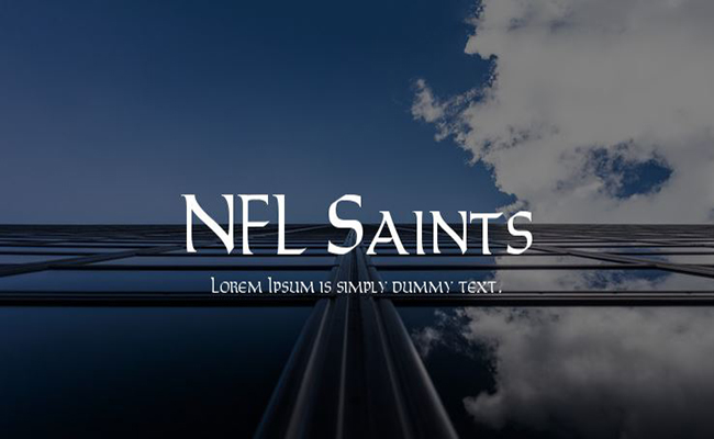 NFL Saints Font Family Free Download