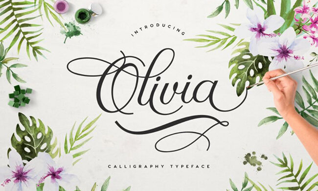 Olivia Letters Font Family Free Download
