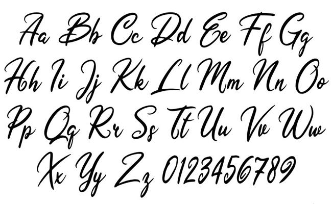 Olivia Letters Font Free Download