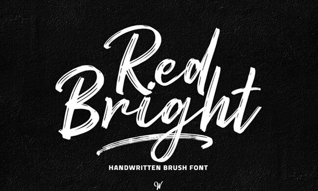 Red Bright Font Family Free Download