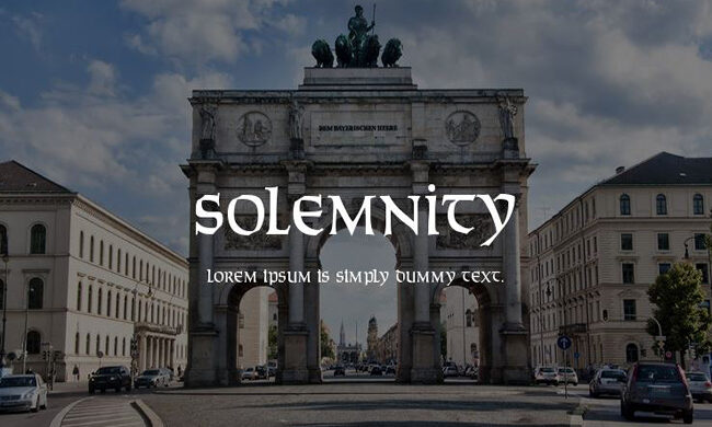 Solemnity Font Family Free Download