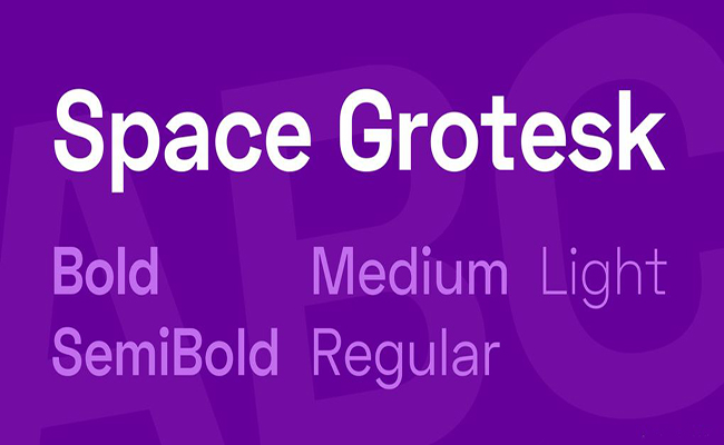 Space Grotesk Font Family Free Download