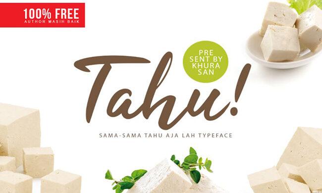 Tahu! Font Family Free Download
