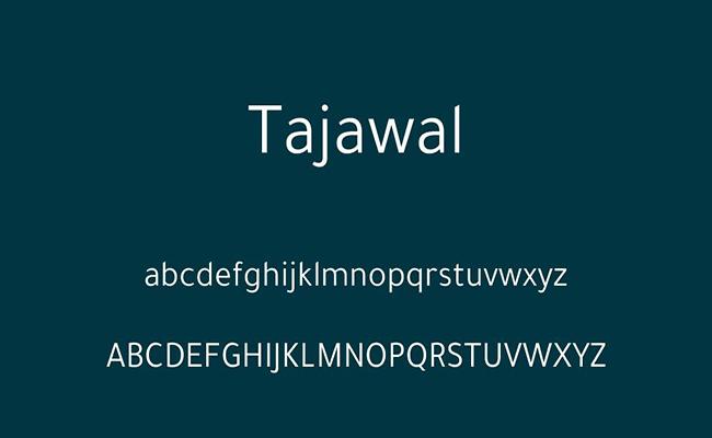 Tajawal Font Free Download