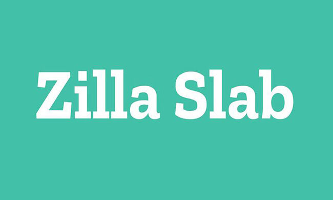 Zilla Slab Font Family Free Download