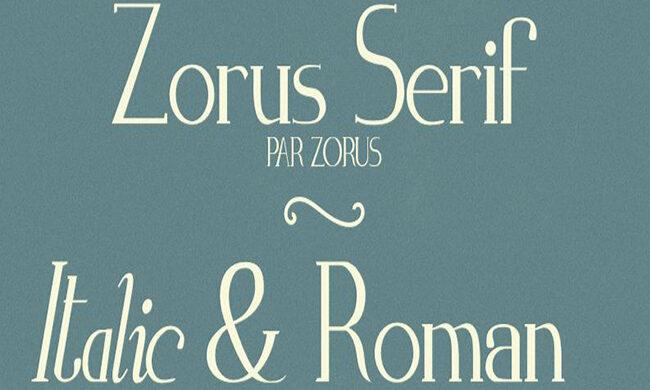 Zorus Serif Font Family Free Download