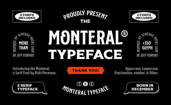 FF Monteral Two Font Free Download