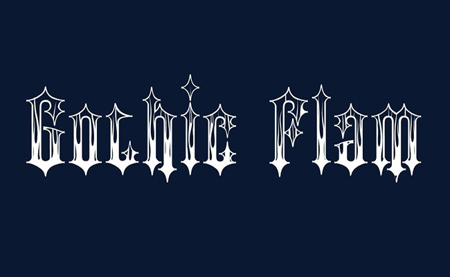 Gothic Flames Font Family Free Download