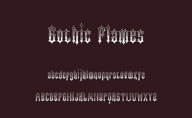 Gothic Flames Font Free Download