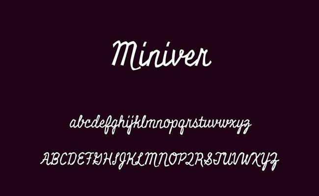 Miniver Font Free Download