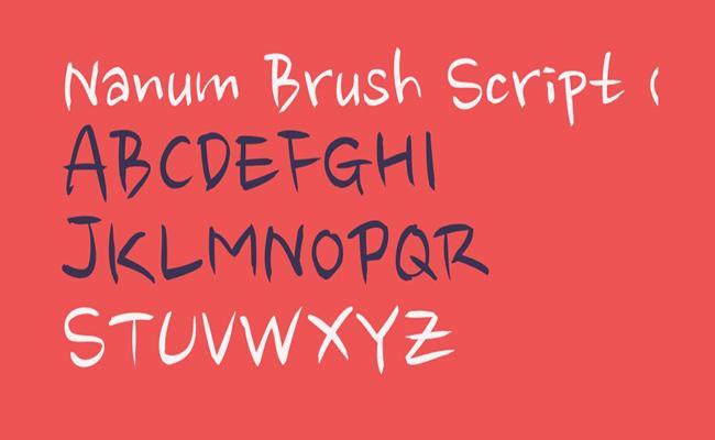 Nanum-Brush-Script-Font-Family-Download