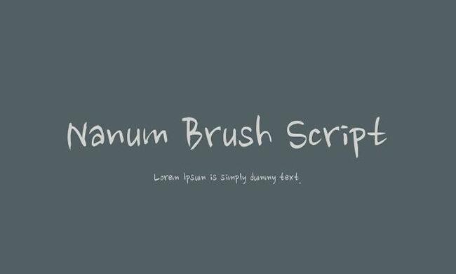 Nanum Brush Script Font Family Free Download