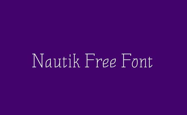 Nautik Font Family Free Download