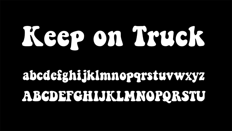 Keep On Truckin Font Family Download